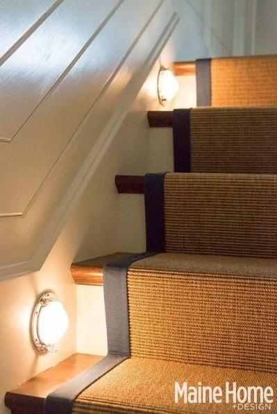 Nautical Stairway Lighting Ideas