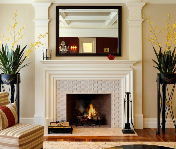 Neutral Beauty Fireplace tile ideas