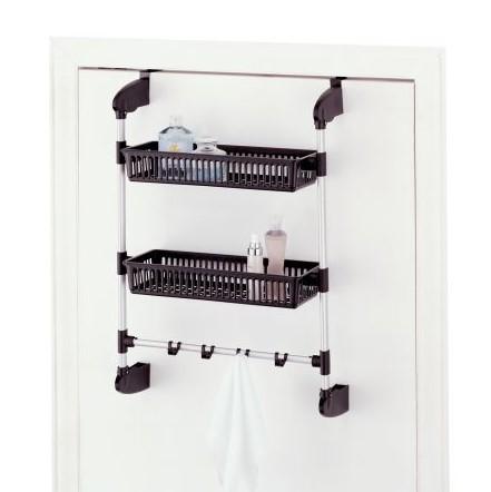 Over Door Two Basket Towel Shelf