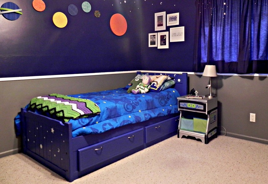 Perky Space Theme Room