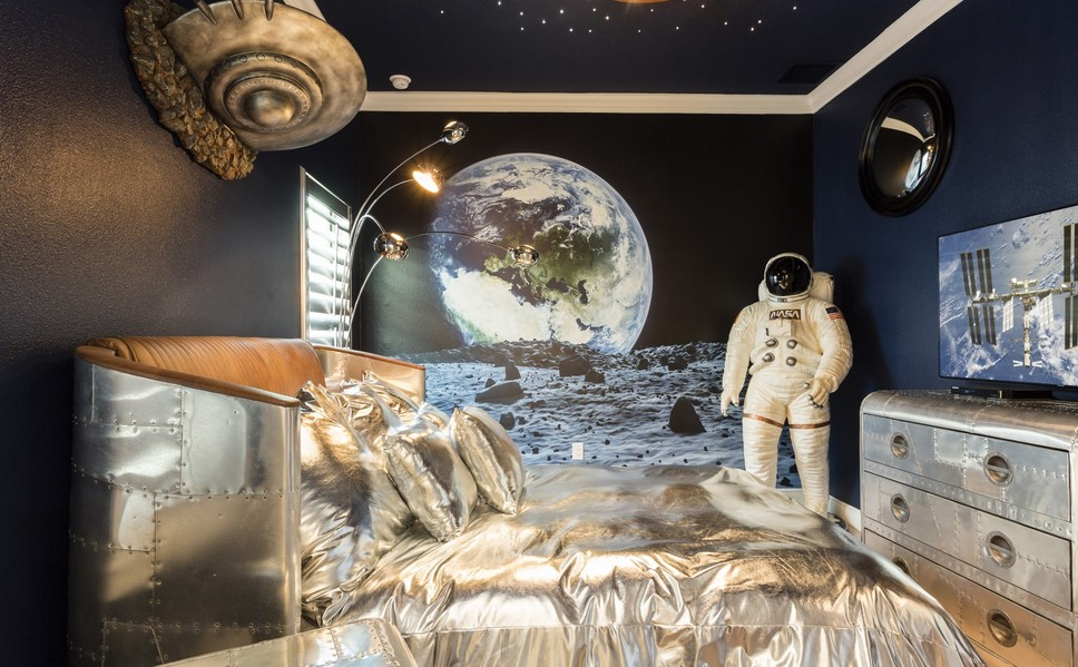 Space Themed Bedroom In The Attic