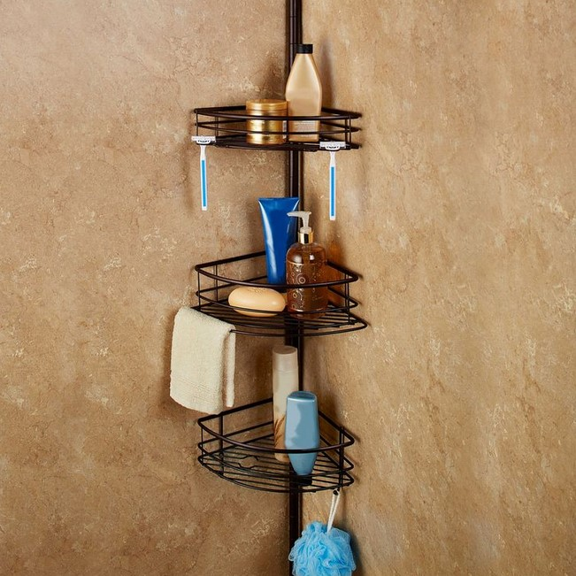 Stress Pole Shower Organizer