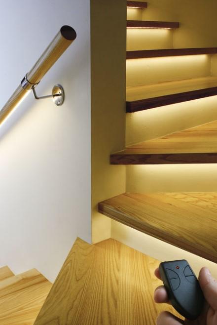 Stripped Stairway Lighting Ideas