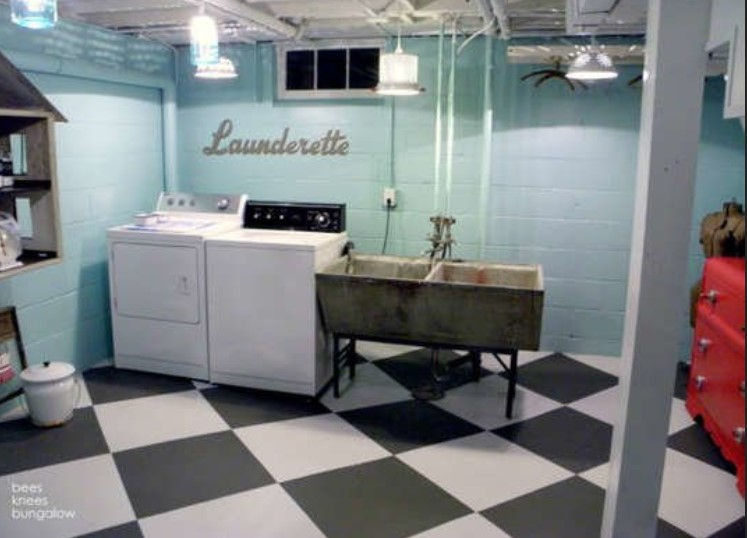 Subterranean Laundry Room