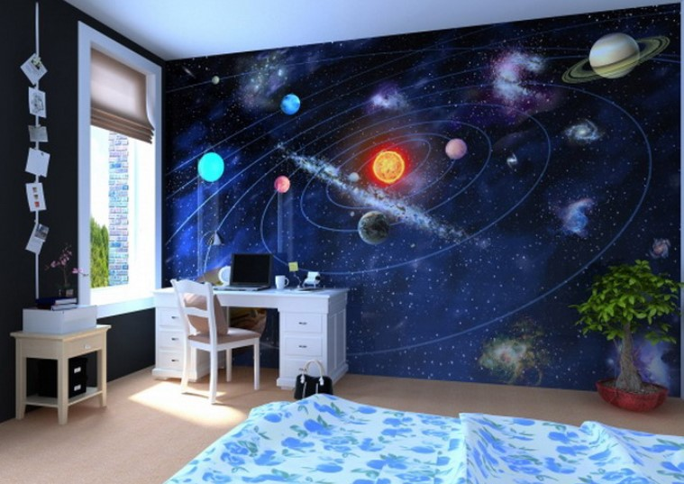Cool Space Themed Room