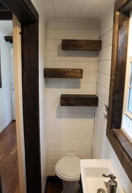 Tiny Luxury House on Wheels's Bathroom