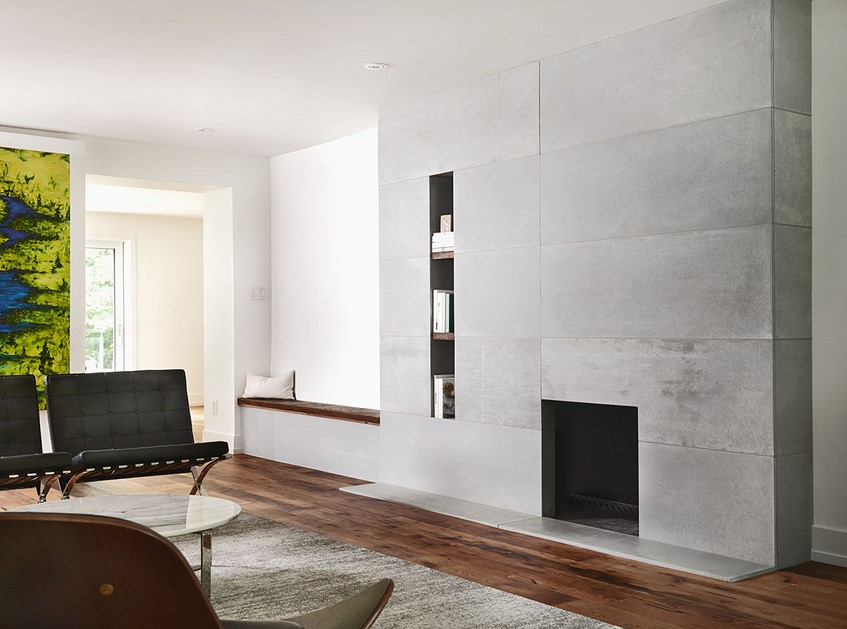Toronto Concrete Fireplace Surround