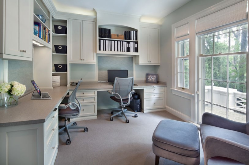 Two Person Desk Ideal Work Space