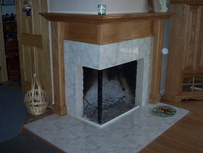 Two-Sided Corner Fireplace
