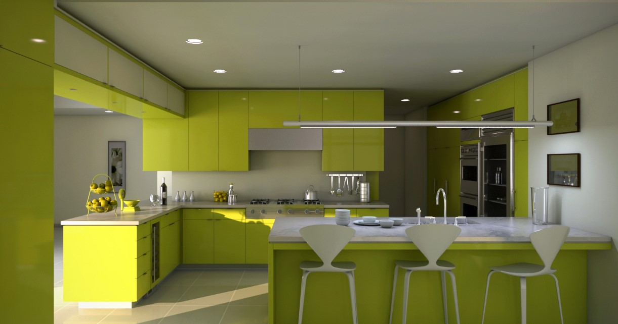 Two Tone Kitchen Cabinet Back to Nature