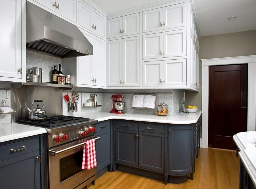 Two Tone Kitchen Cabinet Retro Style