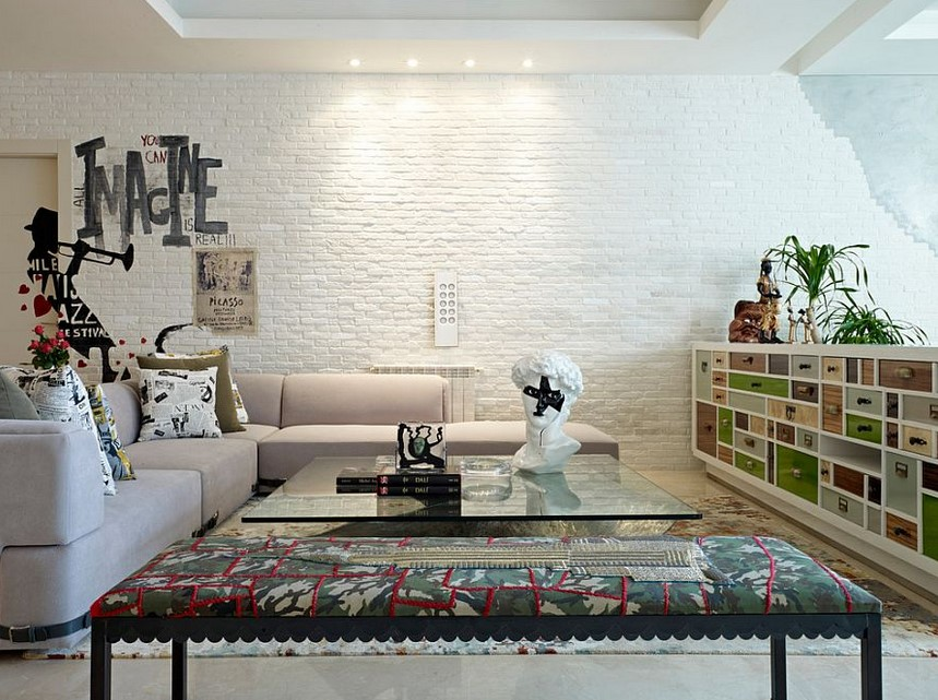 White Brick Wall Design