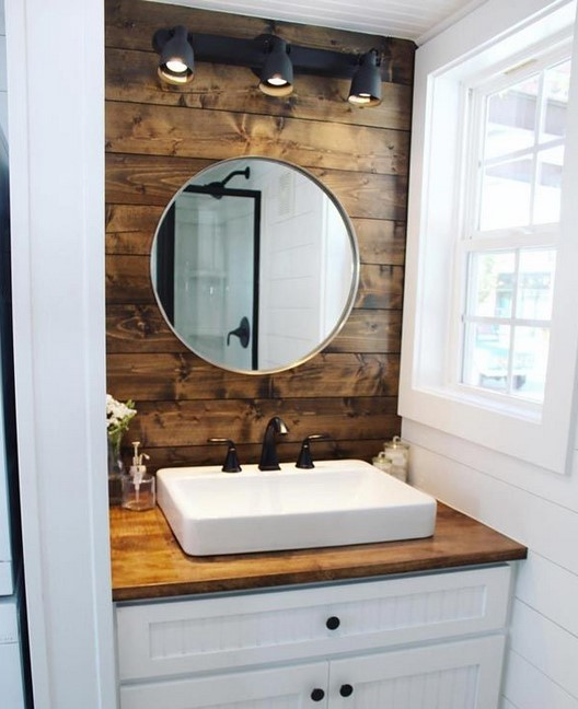 Wonderful Woodwork Tiny Bathroom Ideas