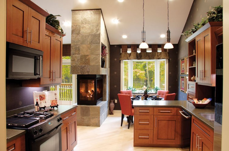 Wood-burning instead of gas-fueled fireplaces