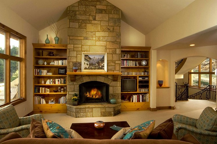 a real fireplace