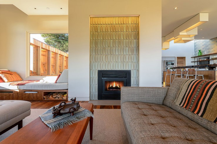 decoration of the fireplace - modern look