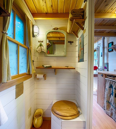 expand tiny bathroom space