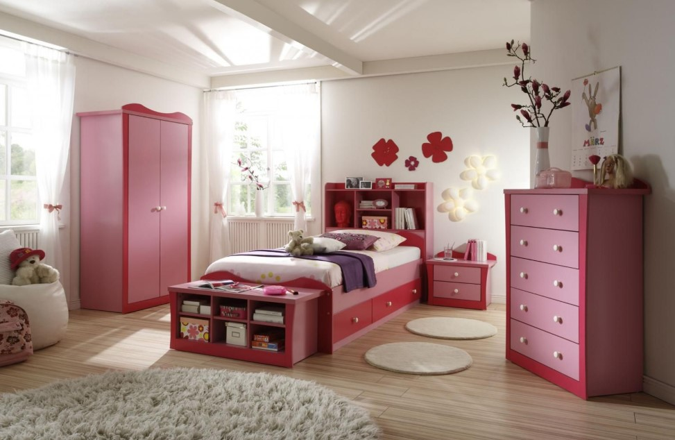 girls room decor ideas with modern element