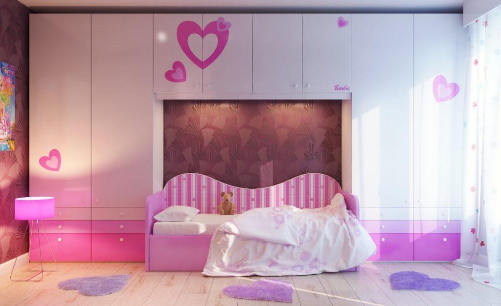 girls room treatment decor ideas