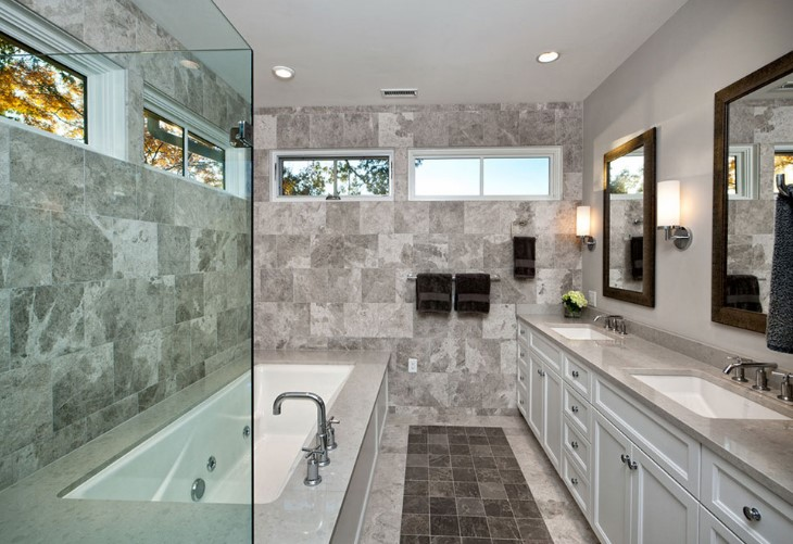 gray bathroom is a simple