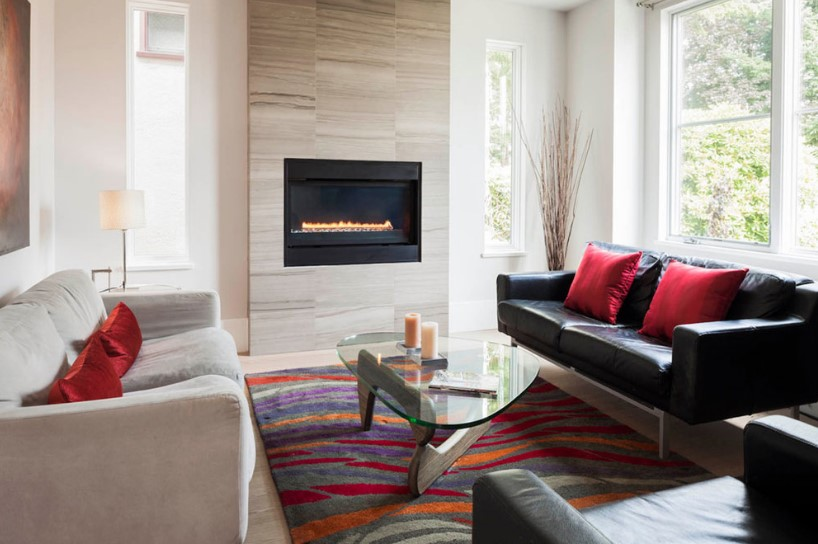 porcelain fireplace tile ideas