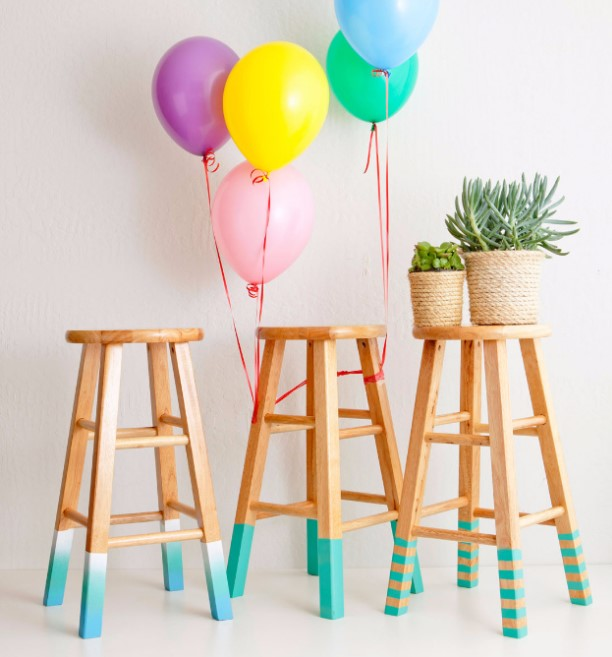 Color Dipped Stools