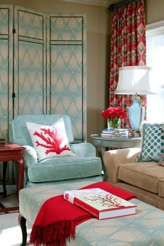 Decorations With Red And Turquoise