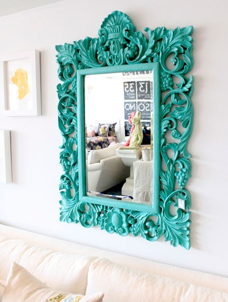 Ornate Turquoise Mirror