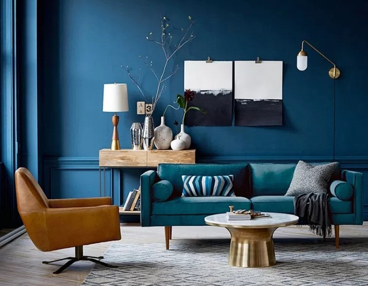 Perfect Style Turquoise Modern Living Room