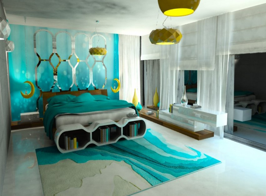 Turquoise room decorations colors of nature aqua exoticness for Aqua bedroom ideas
