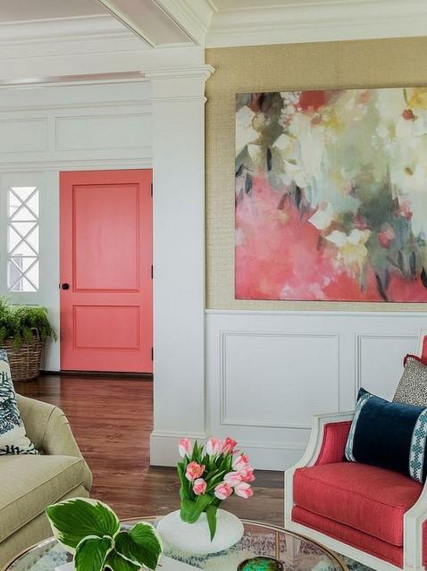 Eclectic hall interior design