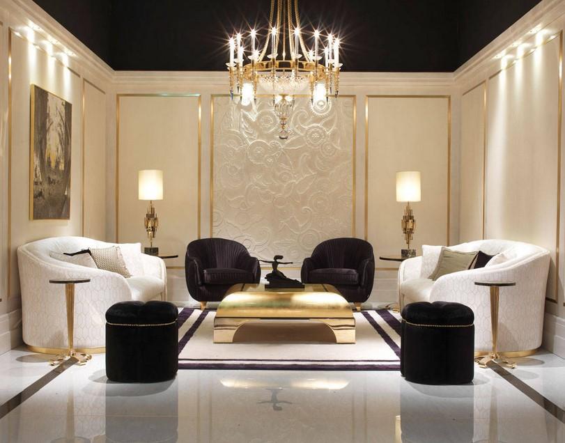 Luxurious hall interior design