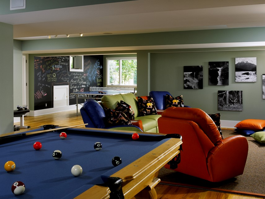 Pool Table Game Room Ideas