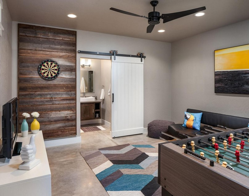 15 funtastic game room ideas for kids and familly spenc. Black Bedroom Furniture Sets. Home Design Ideas