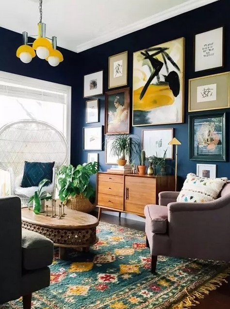 Vintage hall interior design