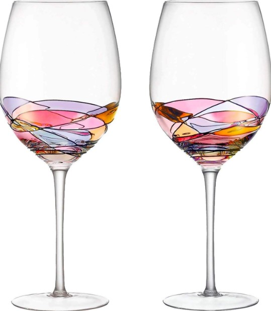 Colorful ribbon in your wine glass