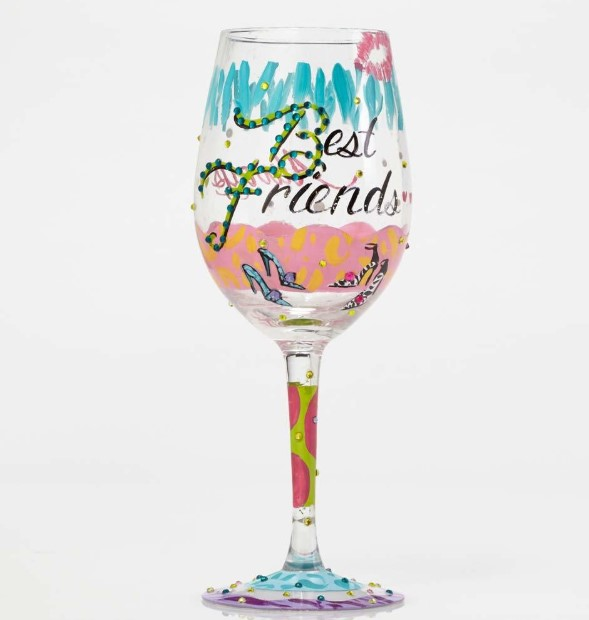 Painted wine glasses for best friend