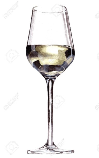 White wine in the wine glass