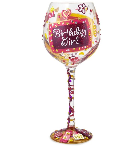 Wine glass as birthday gift