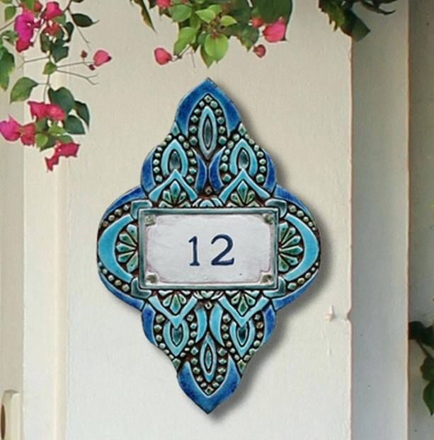 Bohemian Style House Number