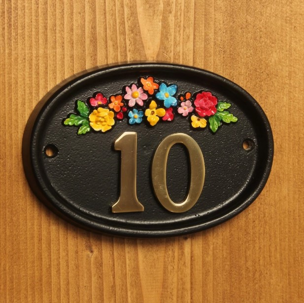 Cast Metal Plaque House Number