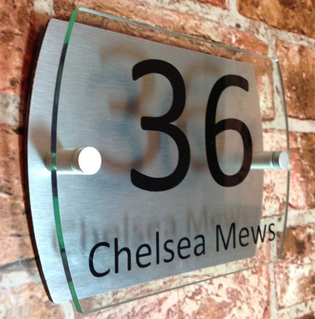 Contemporary Style House Number