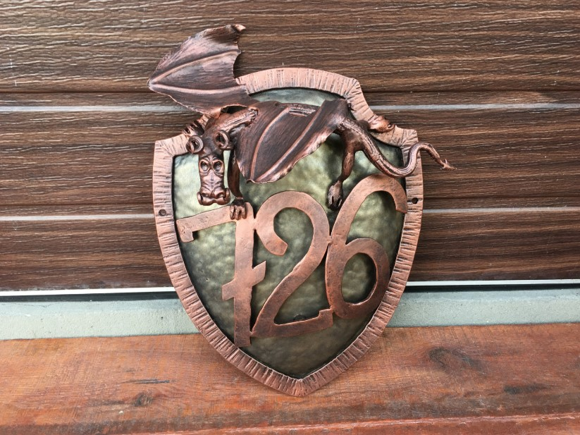 Copper Shield House Number