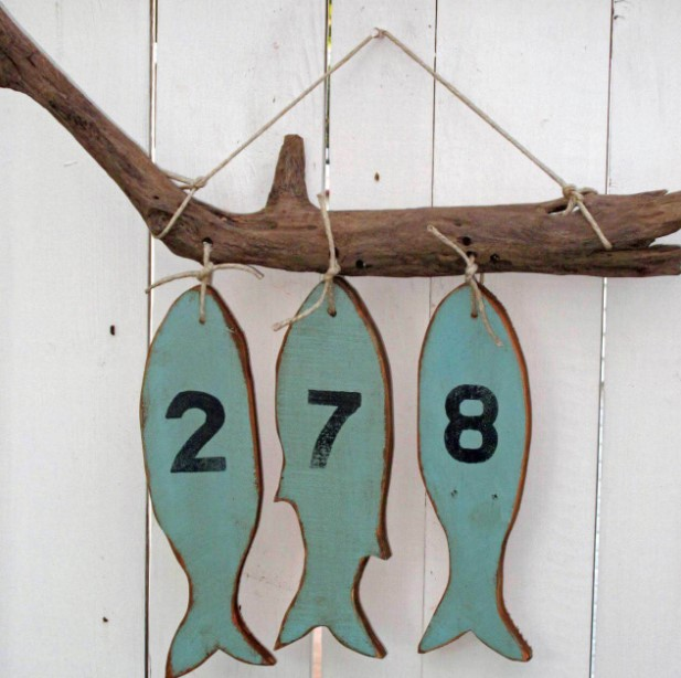Fish on Hook House Number