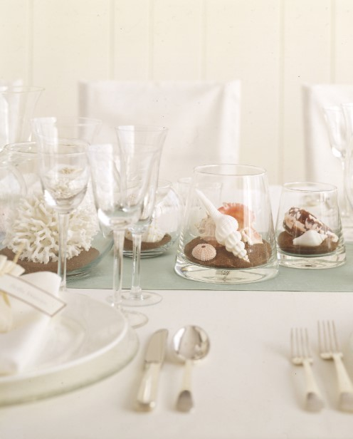 Seashell in a Glass Centerpieces