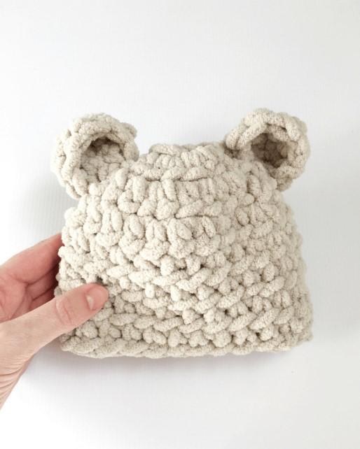 Baby Bear Hat Crochet Pattern