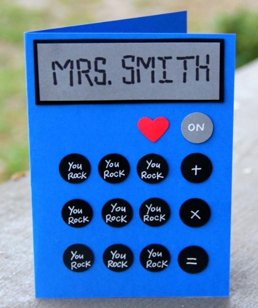 Calculator Cards For Teacher Appreciation