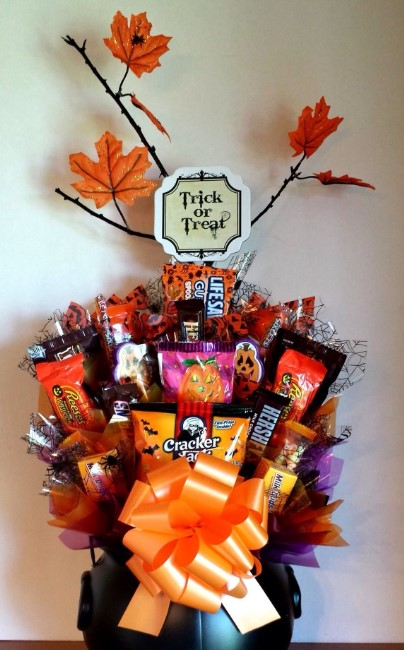 Candy Bouquet for Halloween Party
