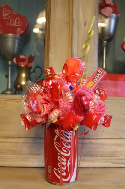 Candy Bouquet in a Soda Can