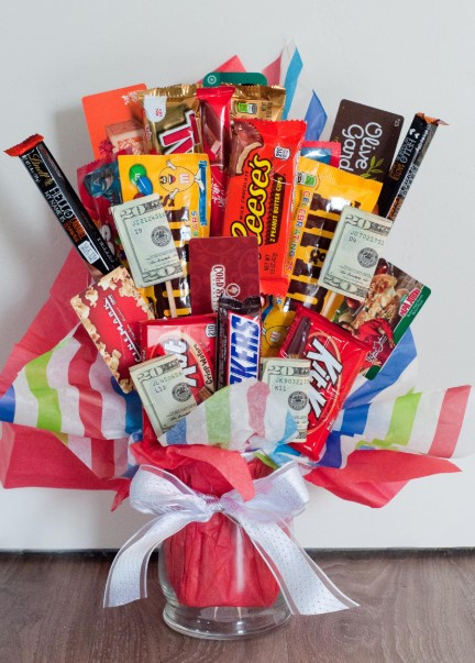 Candy Bouquet with Cash Addition
